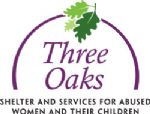 image of the logo for Three Oaks Shelter and Services for Abused Women and Their Children