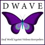 image of the logo for Deaf World Against Violence Everywhere  {Dwave}